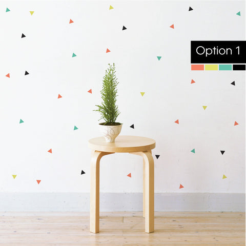 Confetti Triangles Wall Sticker