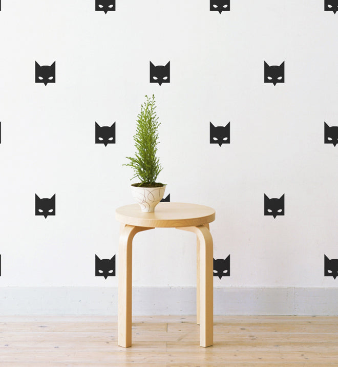 Mini Bat Mask Pattern Wall Sticker