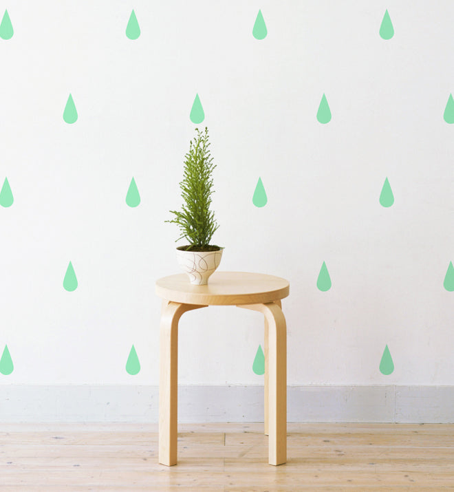 Raindrops Pattern Wall Sticker