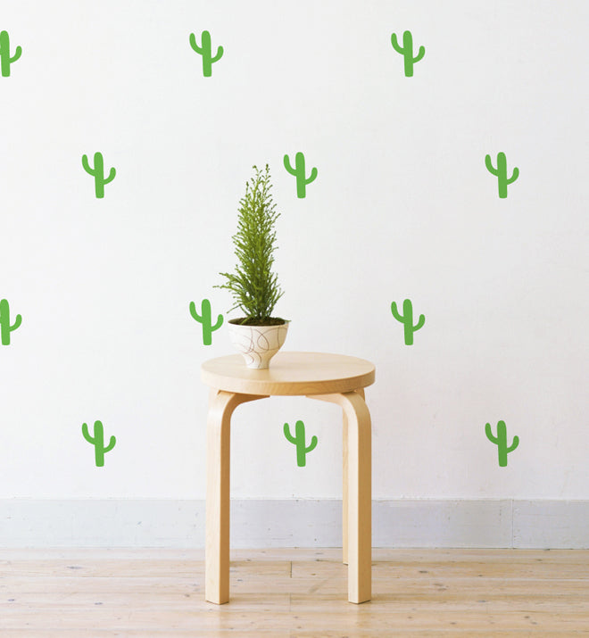 Mini Cactcus Pattern Wall Sticker