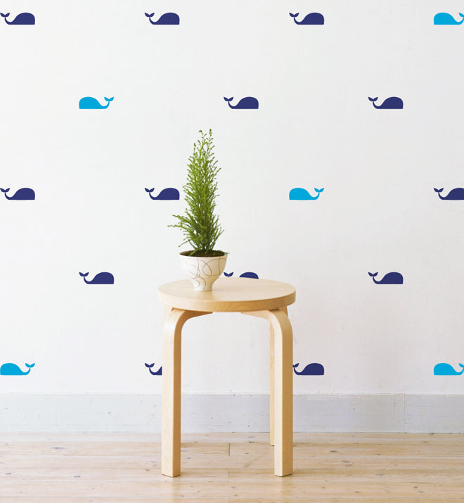 Mini Whales Pattern Wall Sticker