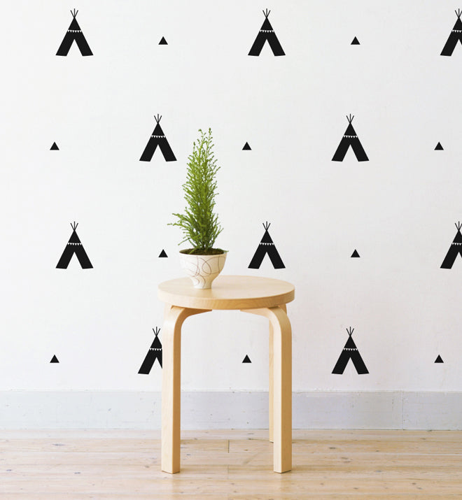 Tribal Tee Pees Pattern Wall Sticker