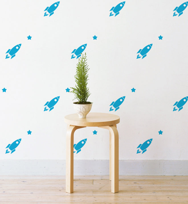 Mini Rockets Pattern Wall Sticker