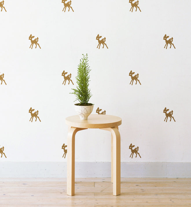 Mini Deers Pattern Wall Sticker