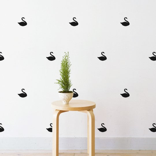 Mini Swans Pattern Wall Sticker