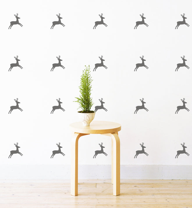 Mini Reindeers Pattern Wall Sticker