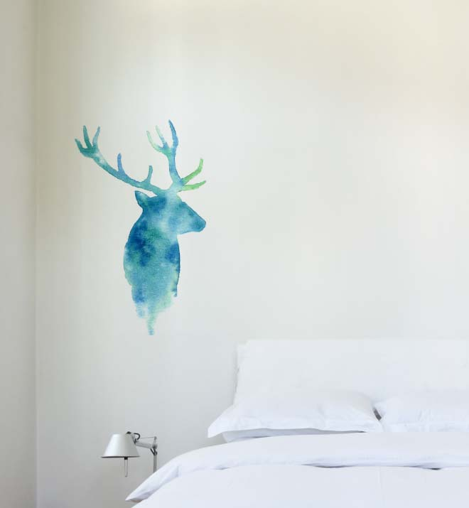 Watercolour Deer Wall Sticker
