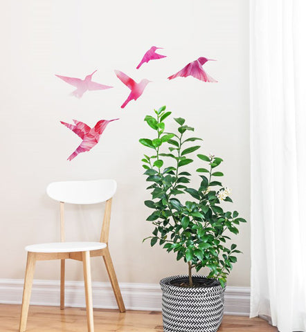 Watercolour Bird Family Wall Sticker