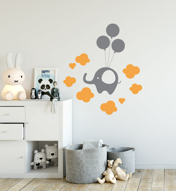 Elephant in the Clouds Wall Sticker