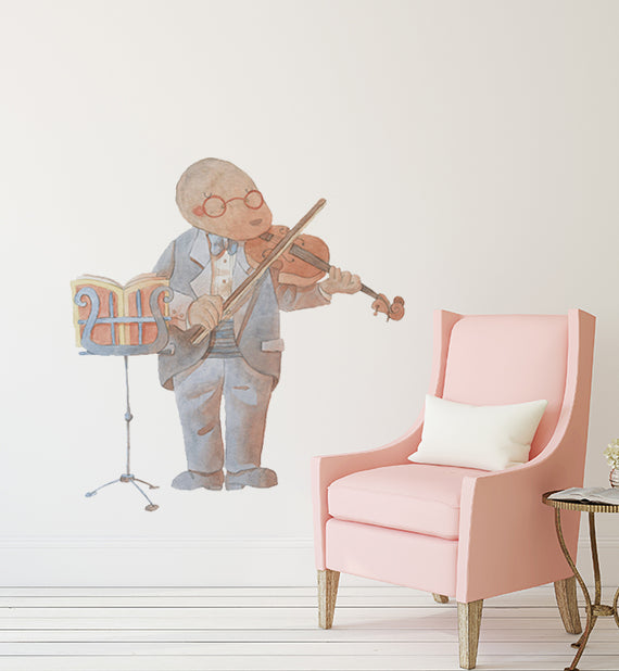 Mole Playing The Violin Wall Sticker