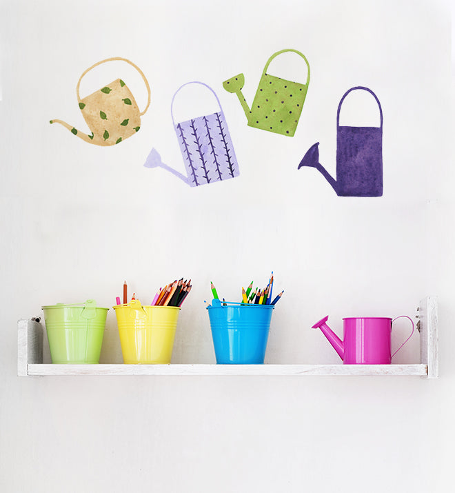 Watering Cans Wall Sticker