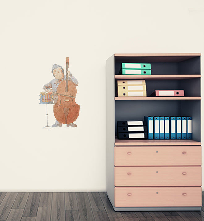 Gorilla Learning Bass Wall Sticker