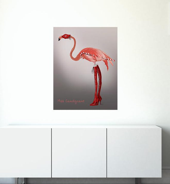 Miss Candycane The Flamingo Wall Sticker