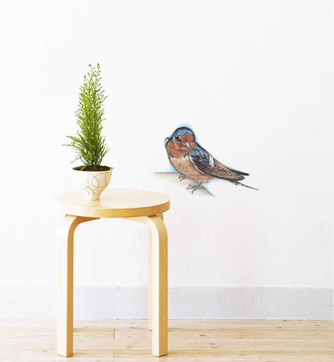 Bird On A Ledge Wall Sticker