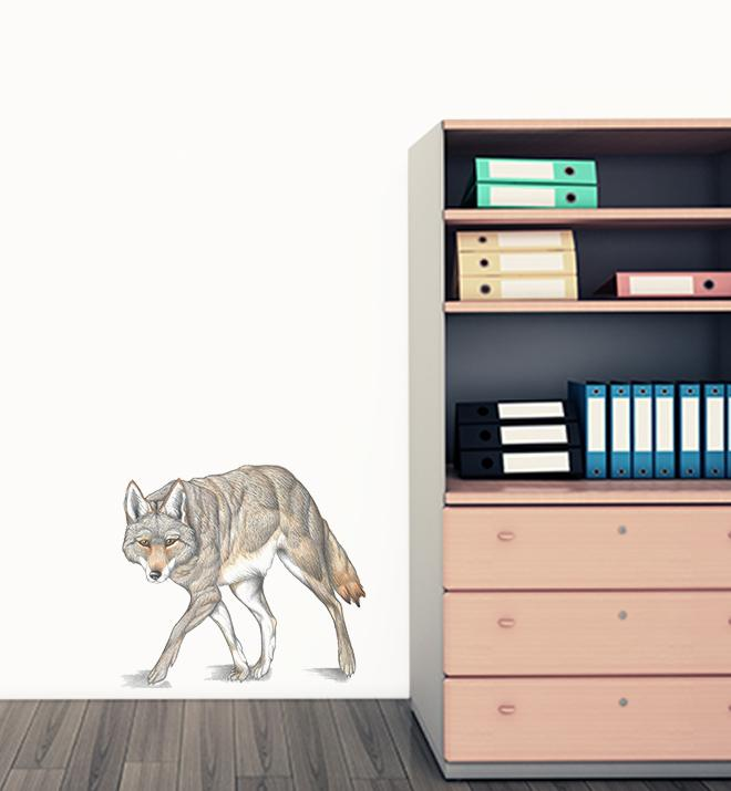 Coyote Stalking Wall Sticker