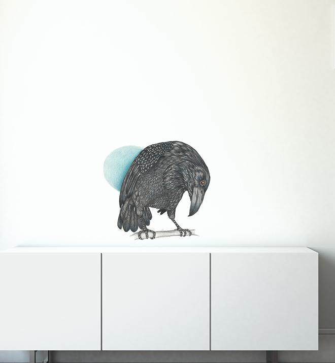 Curious Raven Wall Sticker