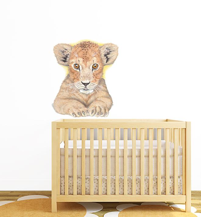Lioncub Face Wall Sticker
