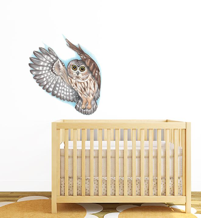 Soaring Owl Wall Sticker