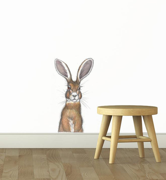 Curious Hare Wall Sticker