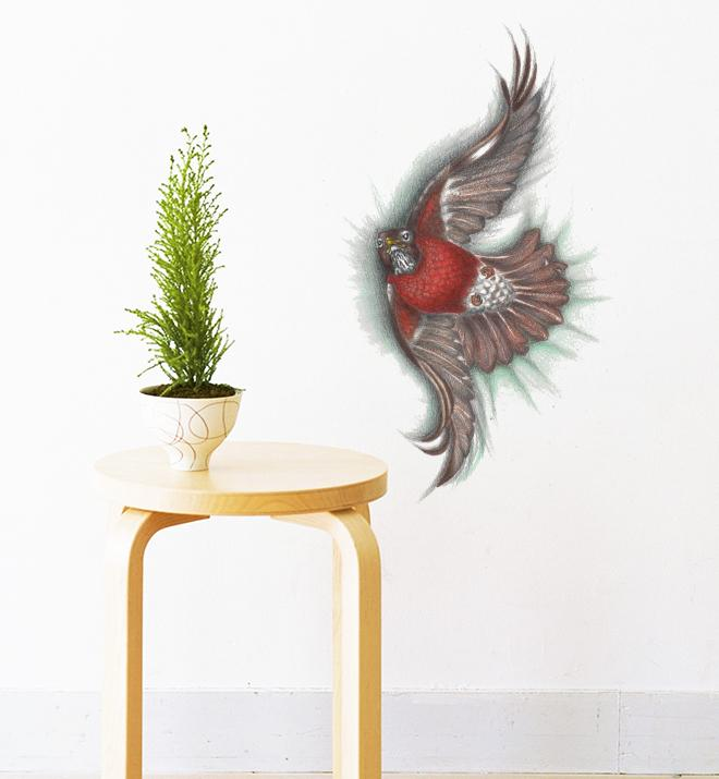 North American Robin Bird Wall Sticker