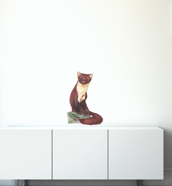 Pine Marten Wall Sticker