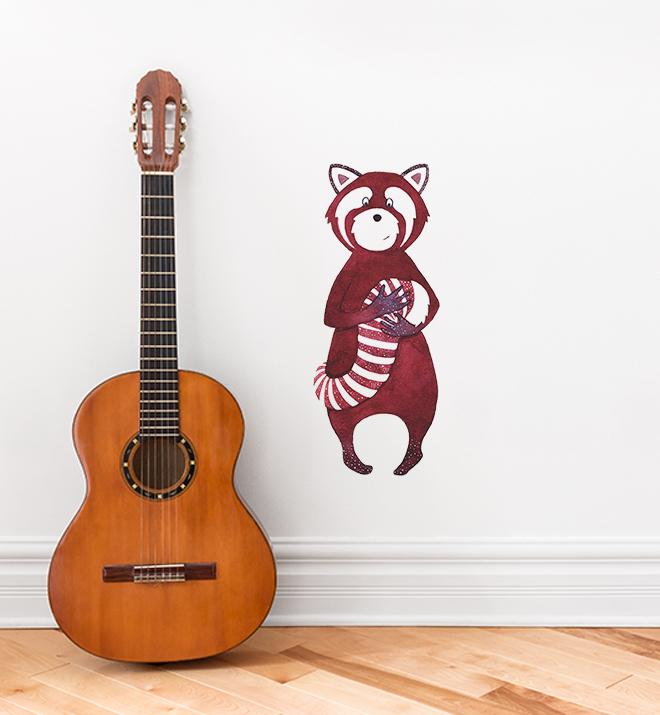 Rather Proud Red Panda Wall Sticker
