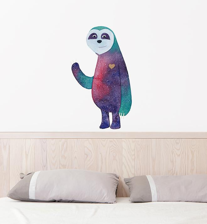 Happy Galaxy Sloth Wall Sticker