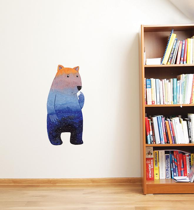 Cute wombat at dusk Wall Sticker
