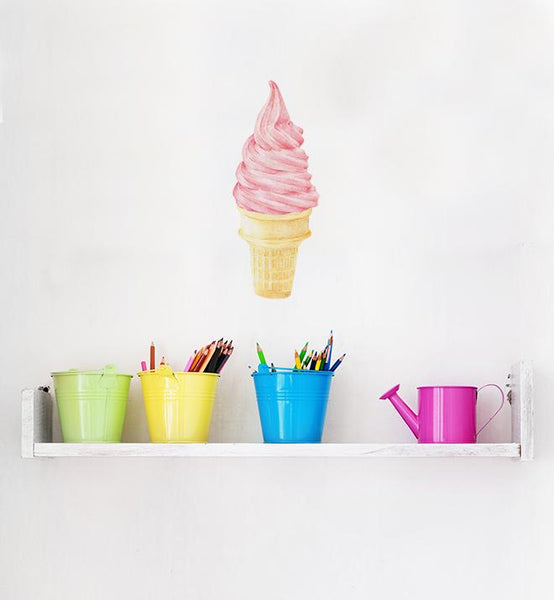 Yummy Pink Ice Cream Wall Sticker