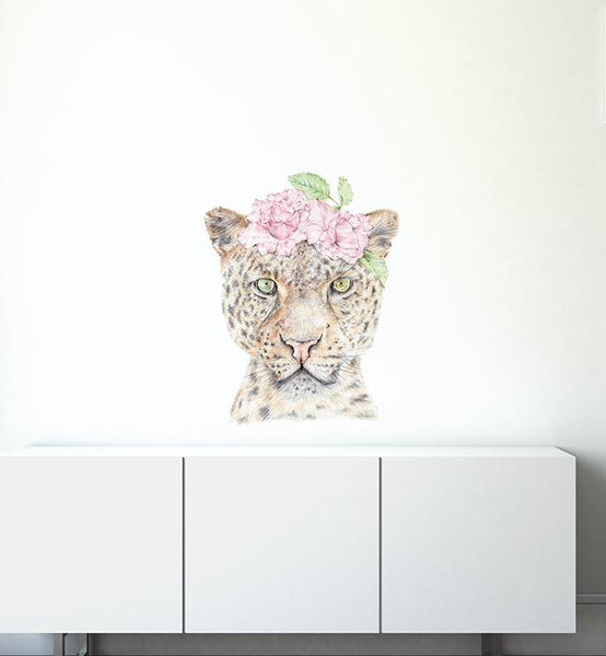 Ava The Leopard Face Wall Sticker
