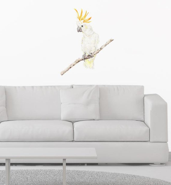 Brucey The Cockatoo Wall Sticker