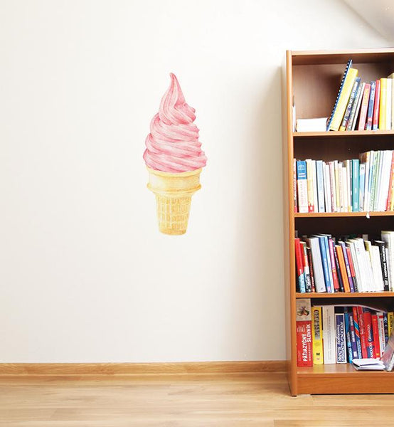 Big Yummy Pink Ice Cream Wall Sticker