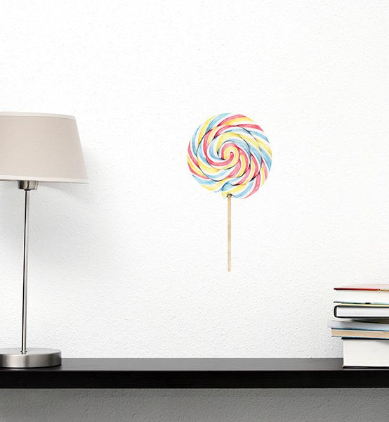 Big Colourful Swirly Lollipop Wall Sticker
