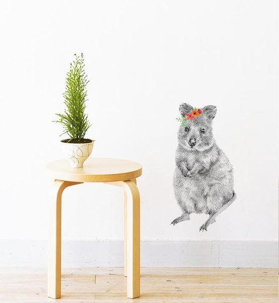 Quokka The Wombat Wall Sticker