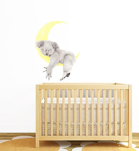 Sleeping On The Moon Koala Wall Sticker
