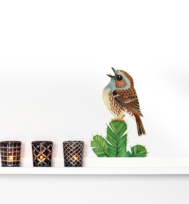 Chirping Bird Wall Sticker