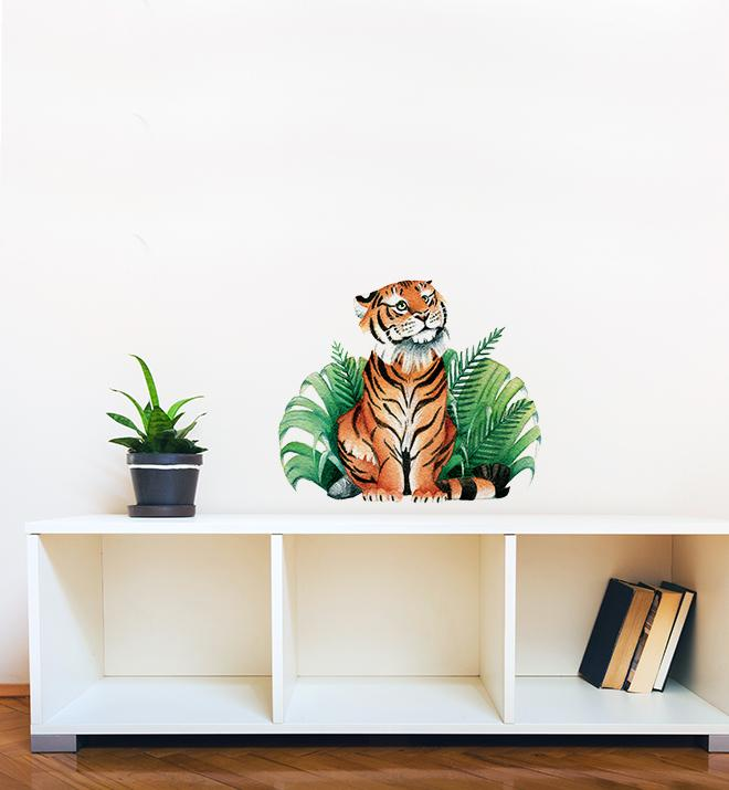 Tiger In Bush Wall Sticker