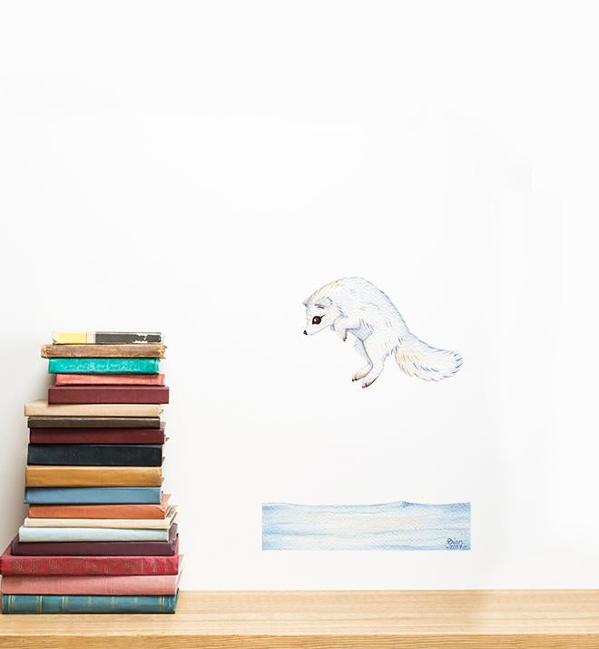 Artic Fox  Wall Sticker