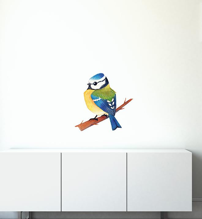 Blue Tit Bird Wall Sticker