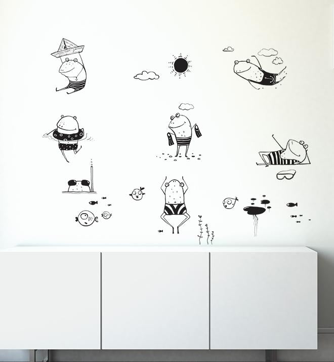 Frogs Collection Pack Wall Sticker