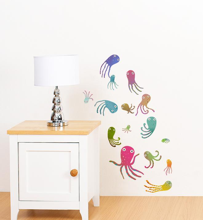 Octopus Collection Pack Wall Sticker
