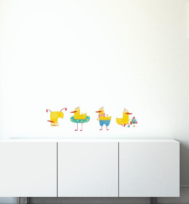 Silly Duck Collection Pack Wall Sticker