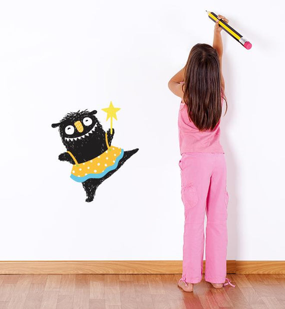 Cute Princess Monster Wall Sticker