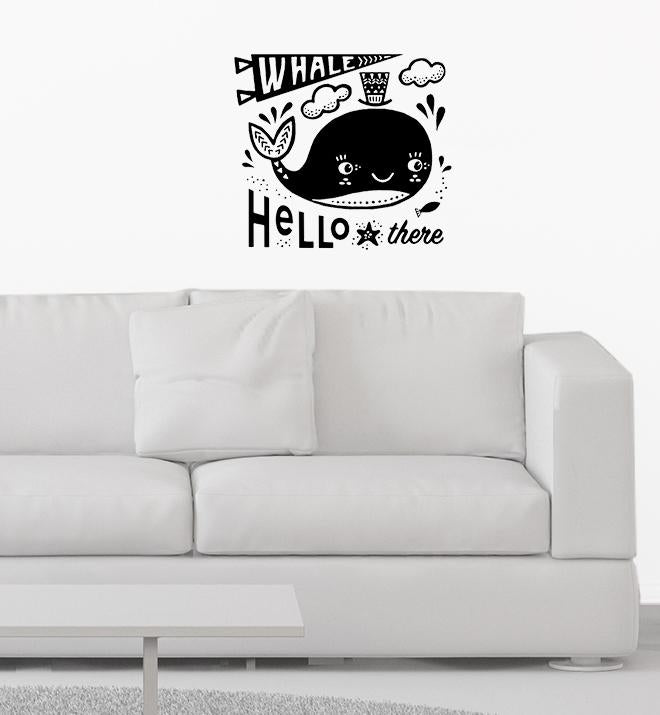 Whale Hello There Wall Sticker