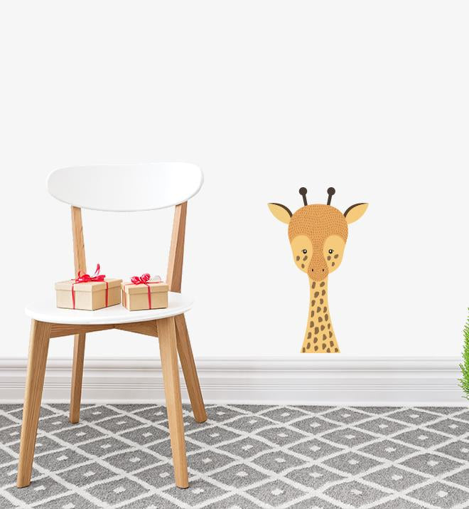 Cute Giraffe Face Wall Sticker