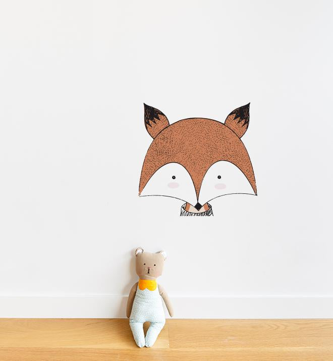 Pointy Eared Fox Wall Sticker