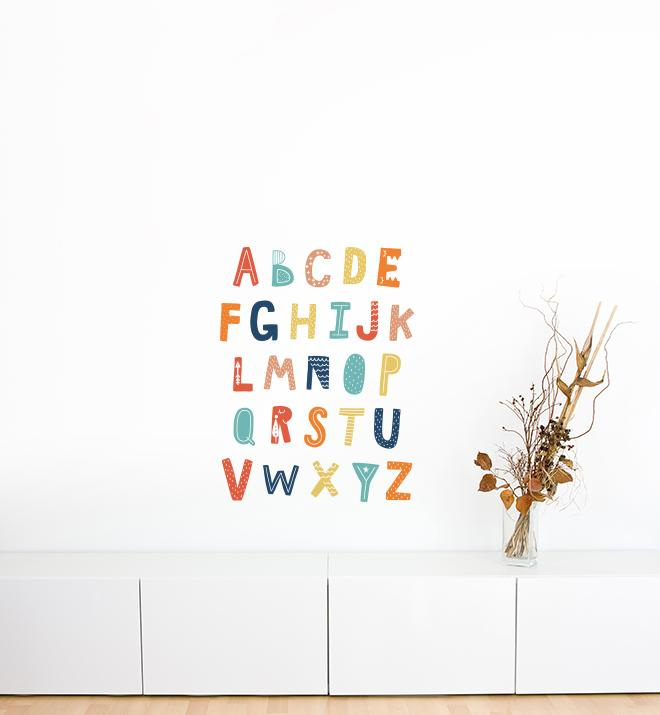 Cozy Cloud Alphabet Wall Sticker