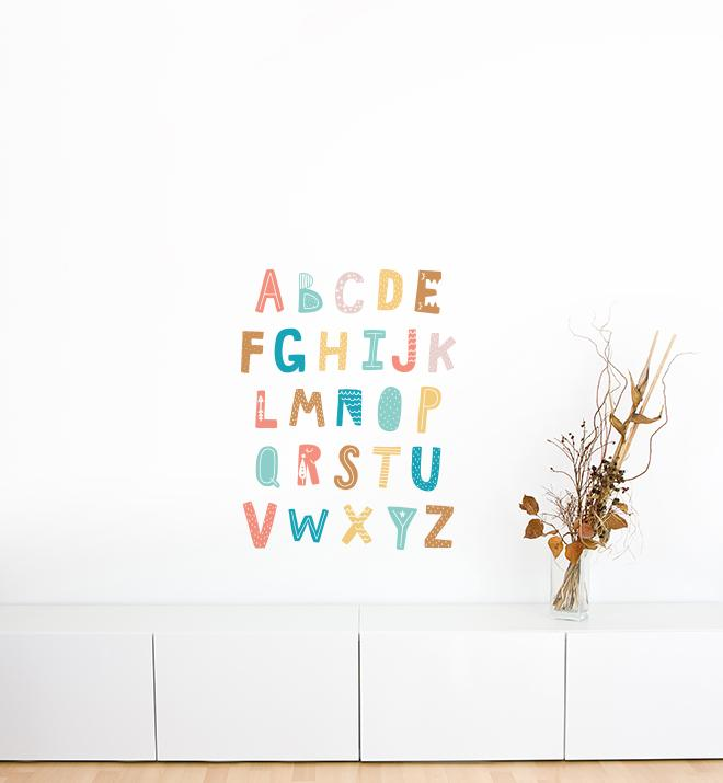 Clear Cozy Cloud Alphabet Wall Sticker