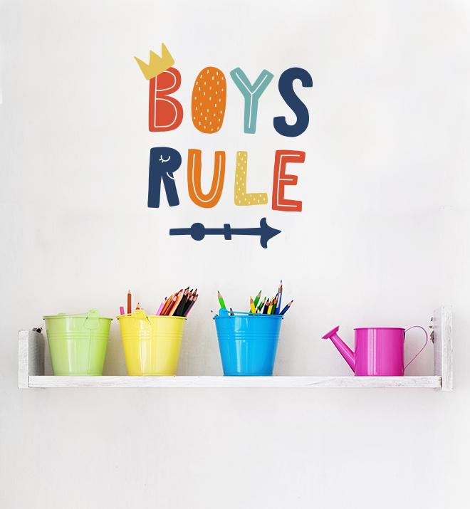 Boys Rule Wall Sticker