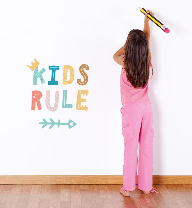All Kids Rule Wall Sticker